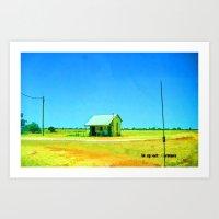 Outback Cottage Art Print