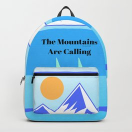 The mountains are calling, digital design Backpack