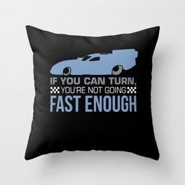 Drag Racing - Not Going Fast Enough Throw Pillow