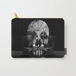 Room Skull B&W Carry-All Pouch