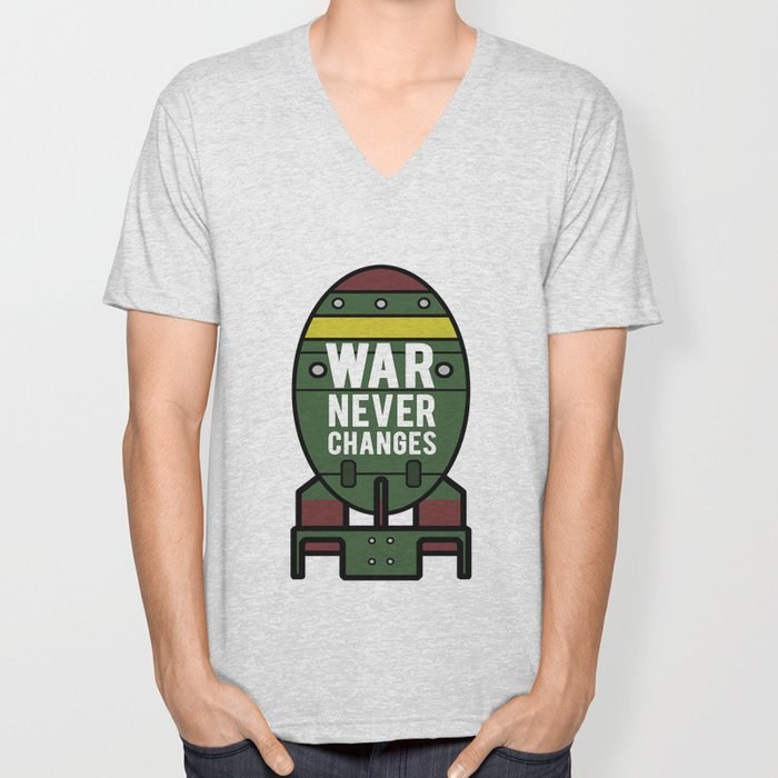 War Never Changes (Nuke) Unisex V-Neck