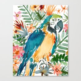 MURDOCH THE BLUE AND GOLD MACAW Canvas Print