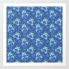 fleur de otachi - dark Art Print
