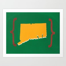 Connecticut Silkscreen Art Print