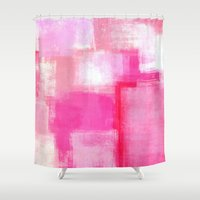 running Shower Curtains featuring Running Late by T30 Gallery