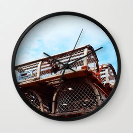 Lobster Trap Stack Wall Clock
