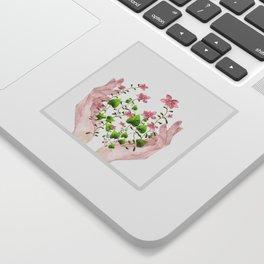 Blooming Hands Sticker