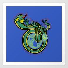 Medieval Frog letter D Art Print