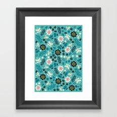 Fresh Blossoms (Greens) Framed Art Print