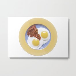Eggs and Salsa Metal Print