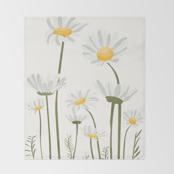 Summer Flowers III Throw Blanket
