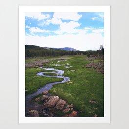 Windy Creek Art Print