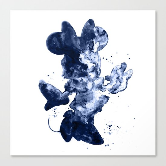 Minnie Mouse dark blue Canvas Print