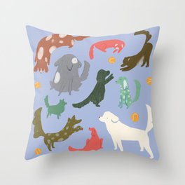 Puppy Playtime Throw Pillow