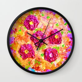 Little Sparkly Bouquet Wall Clock