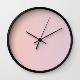 Coral Pink Peach Sunset Gradient Wall Clock