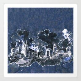 Cottbus Skyline by carographic, Carolyn Mielke Art Print