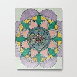 Detox Mandala Metal Print