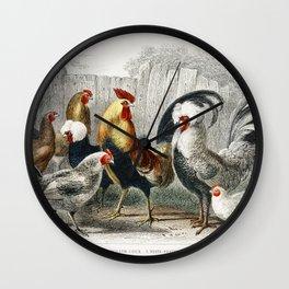 Chickens Wall Clock