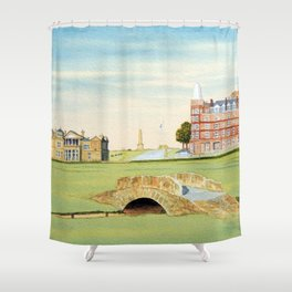 St Andrews Golf Course 18th Hole Shower Curtain