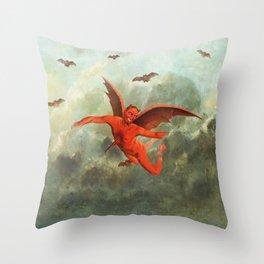FLYING EVIL Throw Pillow