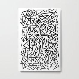 Triangle Craze Metal Print