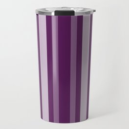 Purple Victorian Lady Stripe Travel Mug