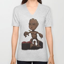 Is This The Death Button? Unisex V-Neck
