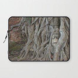 Wat Mahathat's Buddha Head in Tree Roots Laptop Sleeve
