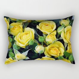 Bright Yellow Roses Rectangular Pillow