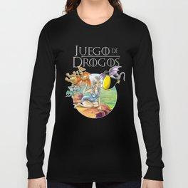 Cuervito Fumanchú   JUEGO DE DROGOS. Long Sleeve T-shirt