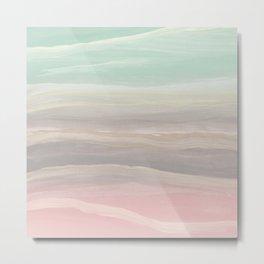Pastel Watercolor Waves Abstract #1 #painting #decor #art #society6 Metal Print