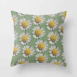 pastel daisy mania Throw Pillow