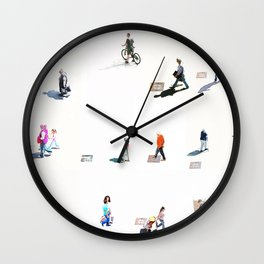 People on the Street Wall Clock