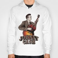 johnny cash Hoodies featuring Johnny Cash by Daniel Cash