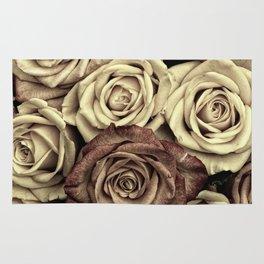 Brown Roses Rug