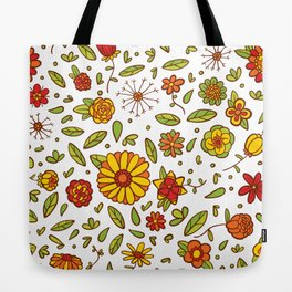 Spring Flitty Flowers Tote Bag