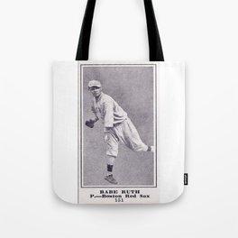 Babe Ruth Vintage baseball card Tote Bag