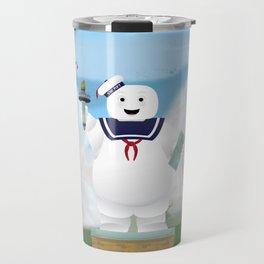 Statue of Stay Puft - Happy Travel Mug