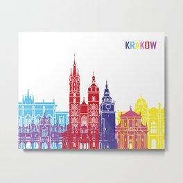 Krakow skyline pop Metal Print