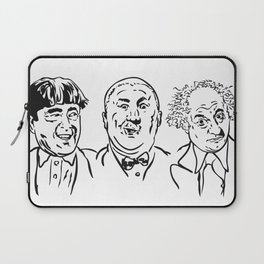 Stooges Moe, Curly and Larry Laptop Sleeve
