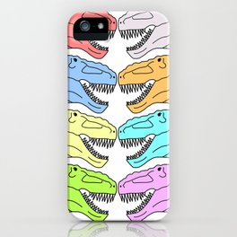 Colorful T Rex iPhone Case
