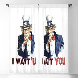 Uncle Sam I Want You Blackout Curtain