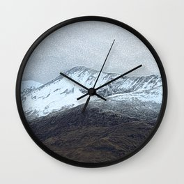 Off in the crouching mountains Wall Clock
