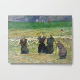 Paul Gauguin - Women Bathing Metal Print