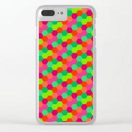 Hexagonal Pattern Clear iPhone Case