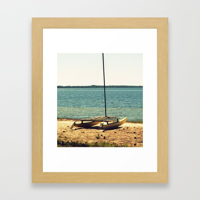 Cross-Processed Catamaran Framed Art Print