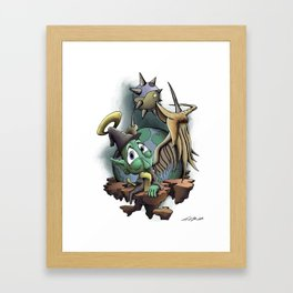 Halo the Guardian Imp Framed Art Print