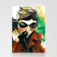 amelie Stationery Cards featuring Amelie by Gra Pereira