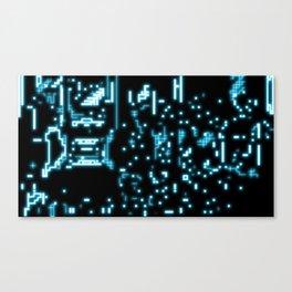 Neon circuits Canvas Print